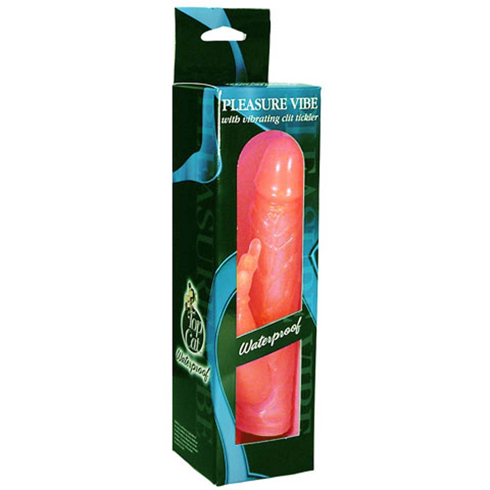 "Waterproof Pleasure Vibe with Clit Tickler Jelly Red 7"" - View #1"
