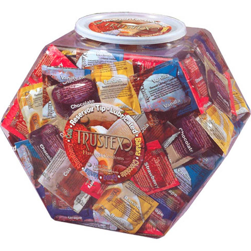 Trustex Flavored Assorted Condoms 288 Pieces in Bowl - View #1