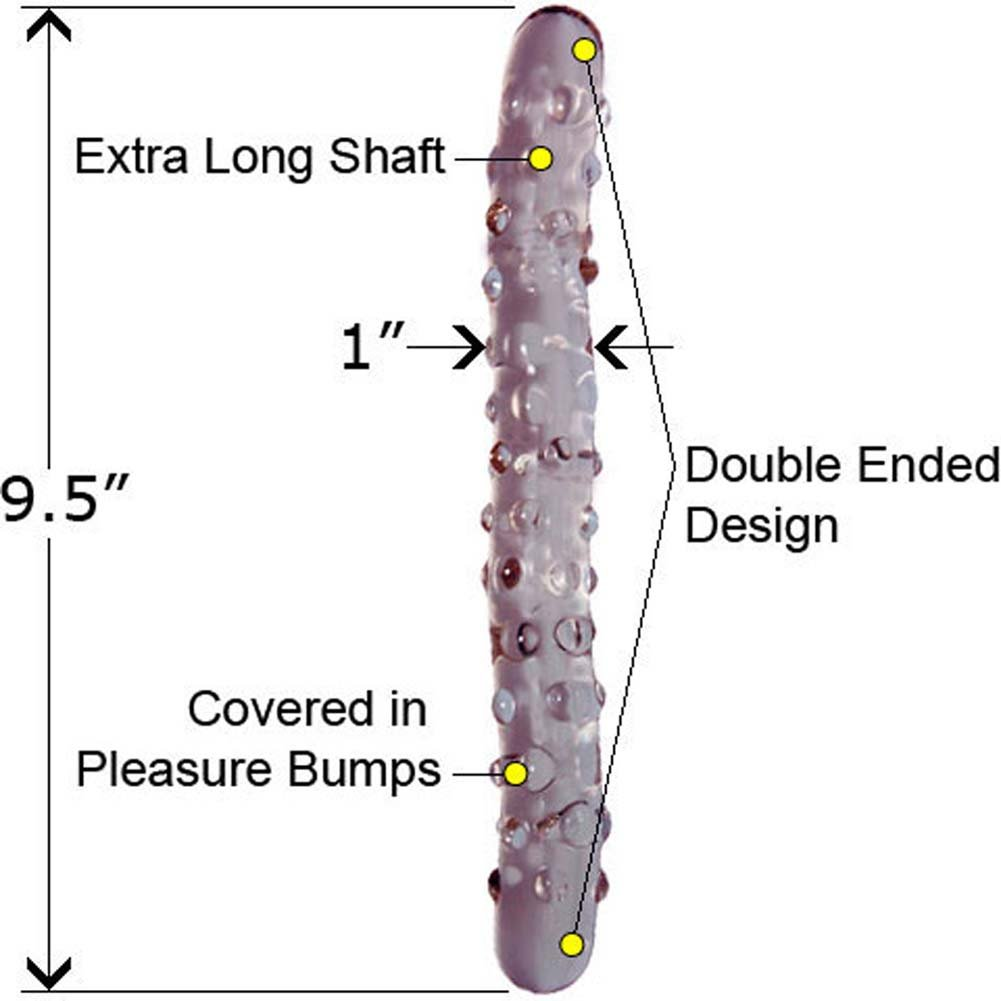 """Charming Morganite Double Ended Glass Dildo 9.5"""" - View #1"""