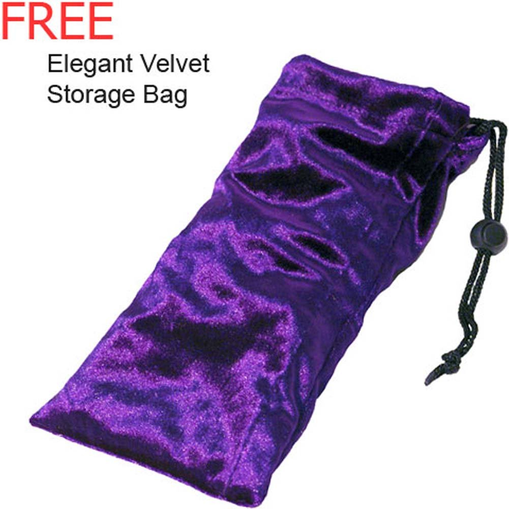 "Amber Banana G-Spot Glass Dildo with Storage Bag 5.5"" - View #3"