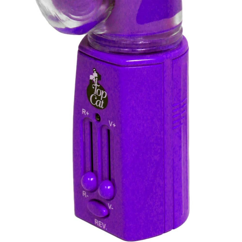 "Elephant Pleasure Reversible Pearl Female Vibrator 11"" Purple - View #4"