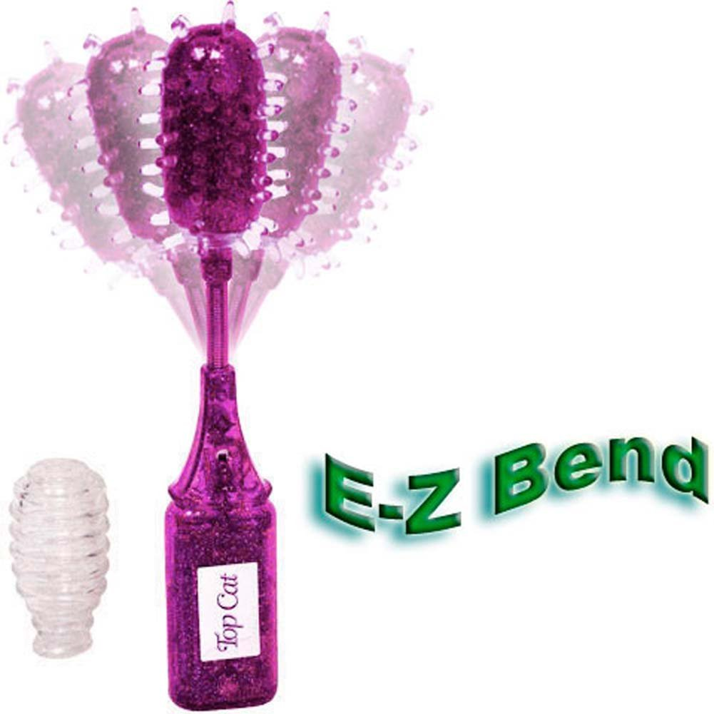 "Bendable Vibro Love Wand with Jelly Sleeves 8"" Purple - View #3"