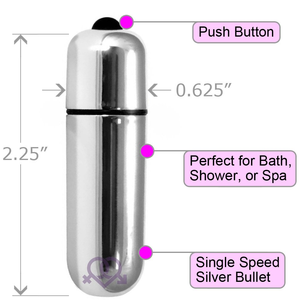 "OptiSex Ultra Powerful Waterproof Love Bullet Vibrator 2.25"" Silver - View #1"