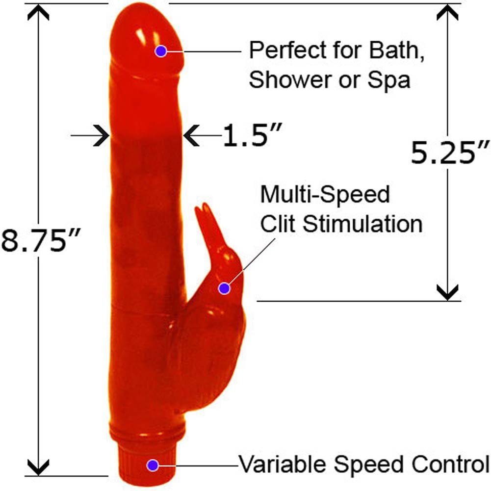 "Bath-Tub Birdie Waterproof Vibrator 8.75"" Red - View #1"