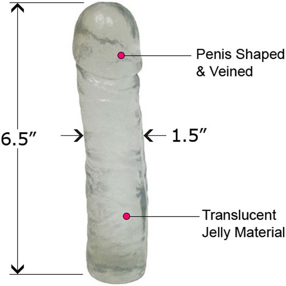 "Classic Straight Jelly Dong 7"" Clear Crystal - View #2"