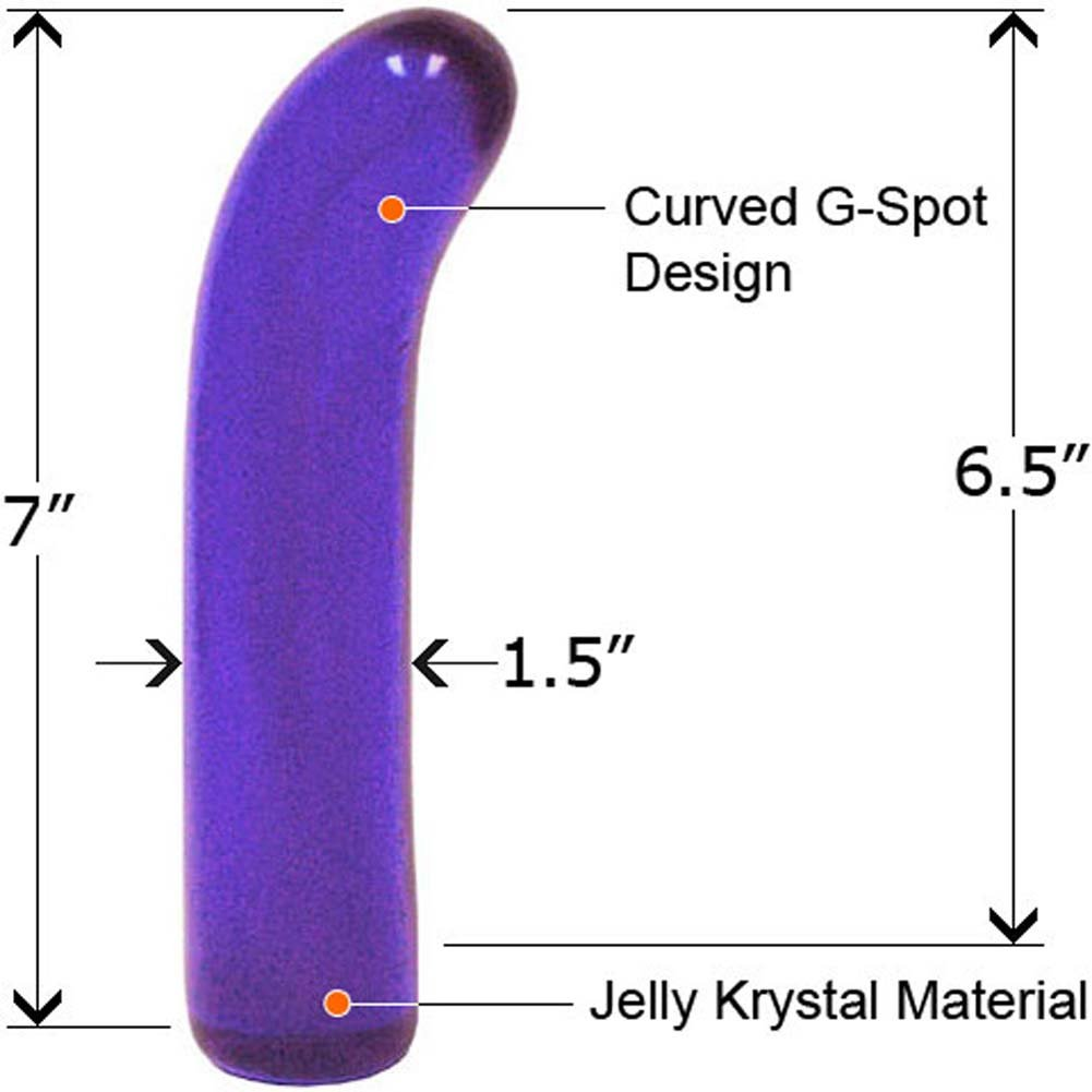 """Classic Jelly G-Spot Dong 7"""" Blue - View #2"""