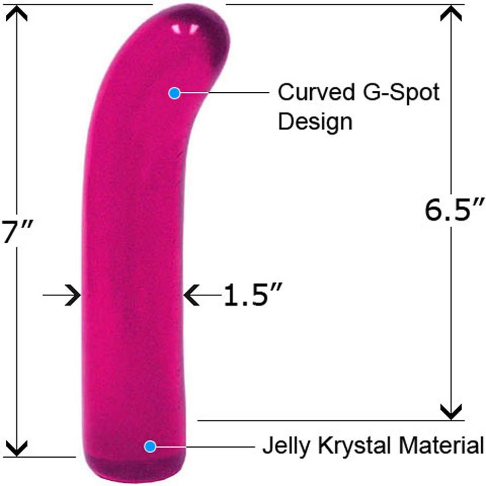 "Classic Jelly G-Spot Dong 7"" Violet - View #1"