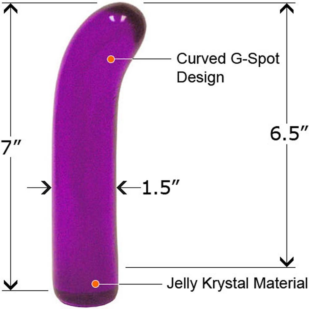 "Classic Jelly G-Spot Dong 7"" Purple - View #2"