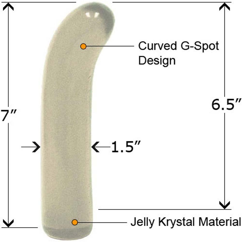 "Classic Jelly G-Spot Dong 7"" Clear Crystal - View #1"