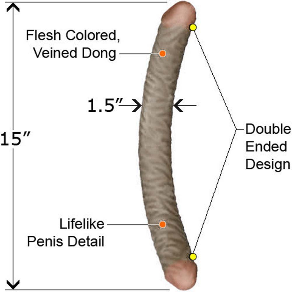 "NeoSkin Double Dong 15"" Mocha - View #1"