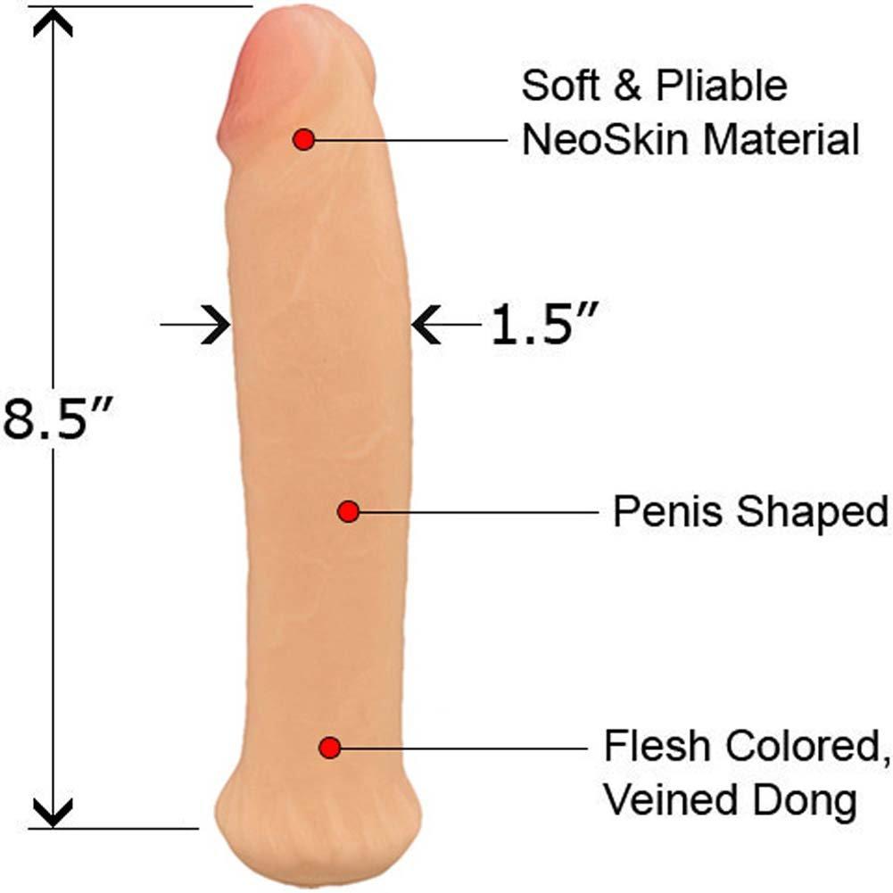 "Straight NeoSkin Dong 8.5"" Cream - View #1"