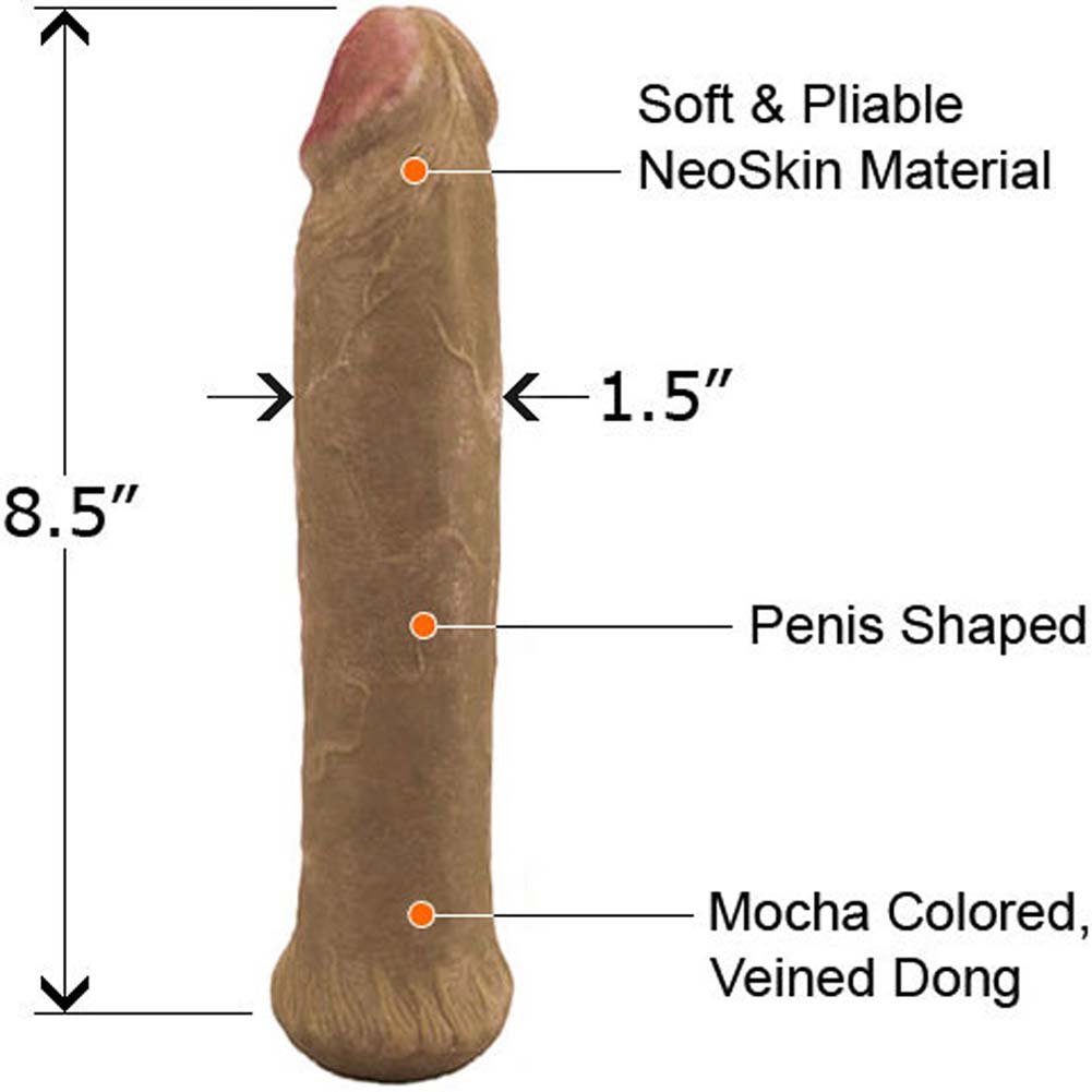 "Straight NeoSkin Dong 8.5"" Mocha - View #1"
