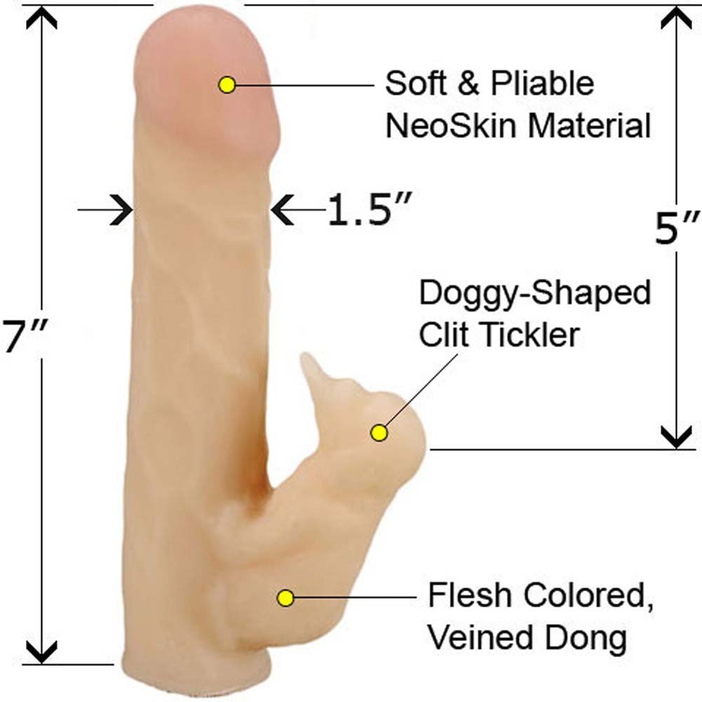"Life Like NeoSkin Dong with Clit Tickler Stimulator 7"" Natural Flesh - View #1"