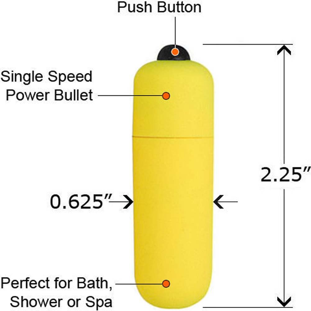 OptiSex Ultra Powerful Waterproof Love Bullet Yellow Flame - View #1