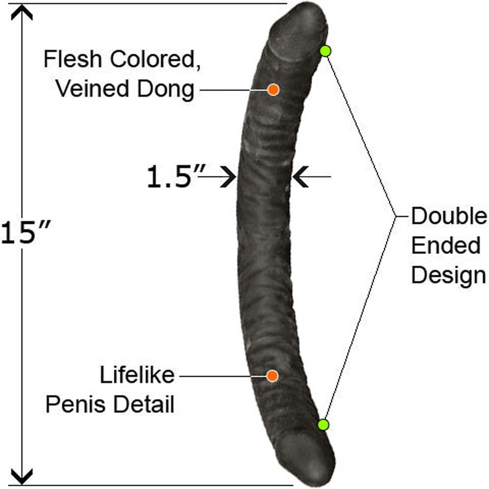 "NeoSkin Double Dong 15"" Ebony - View #1"
