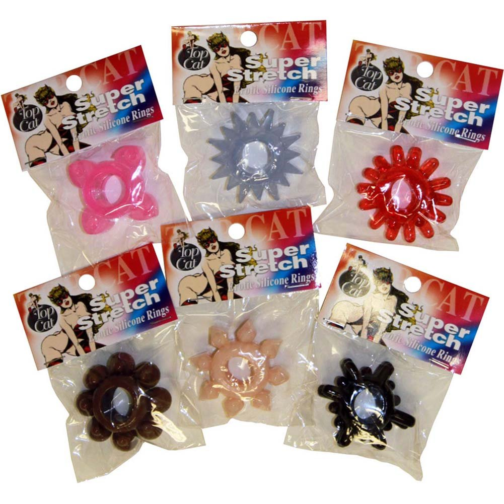 Super Stretch Erotic Silicone Cock Rings 72 Piece Bag - View #3