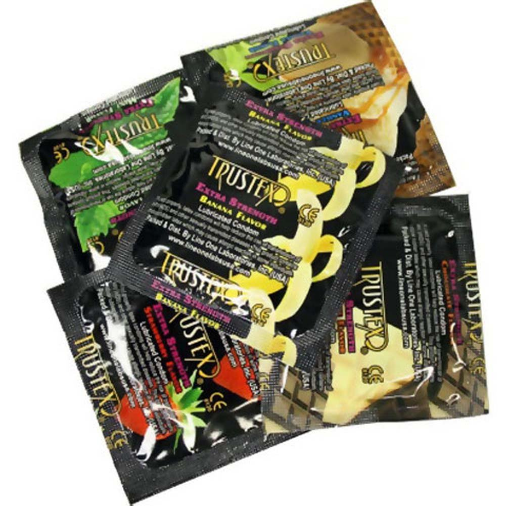 Trustex Extra Strength Assorted Flavored Condoms 12 Pack - View #2