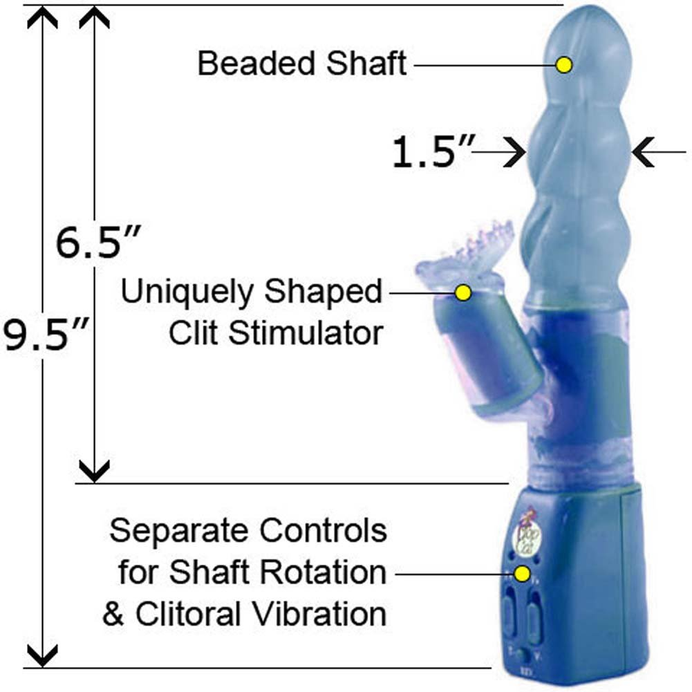 "Ecstasy Double Play Vibrator 9.5"" Blue - View #1"