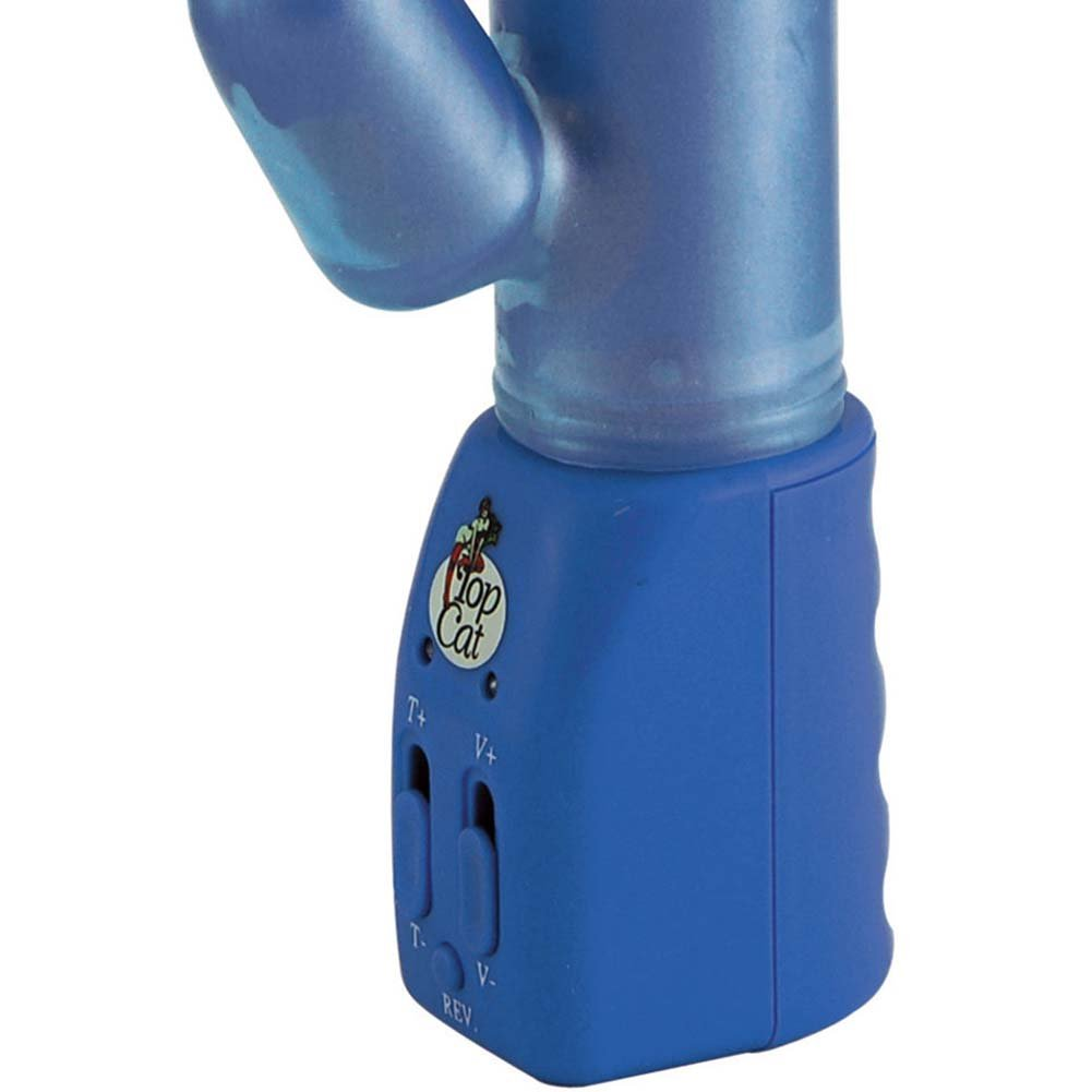 "Ecstasy Double Play Vibrator 9.5"" Blue - View #3"