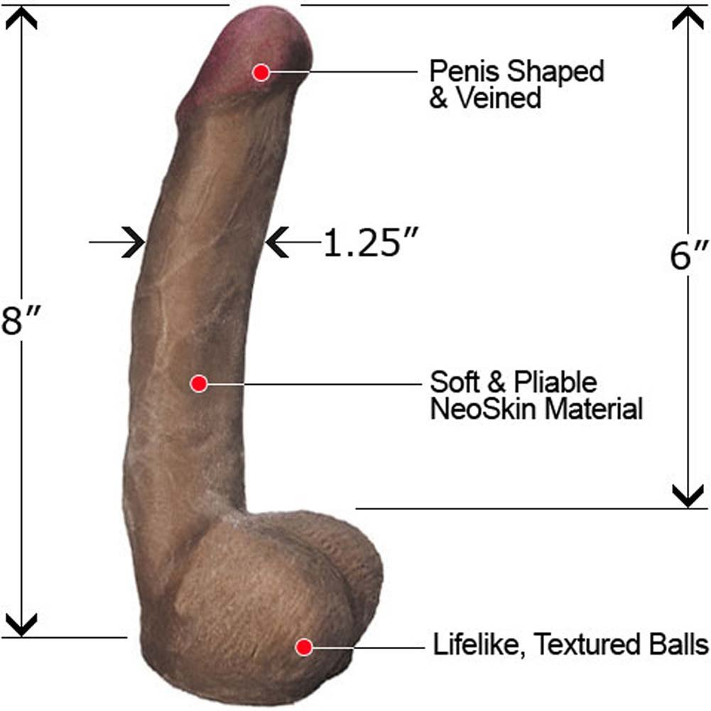 "Slim NeoSkin Dong with Balls 8"" Mocha - View #1"