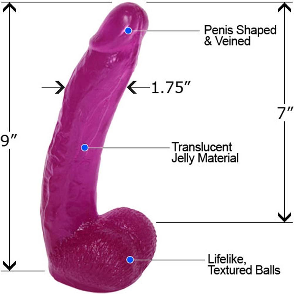 "Blissful Bill Jelly Dong with Balls 9"" Seductive Violet - View #1"