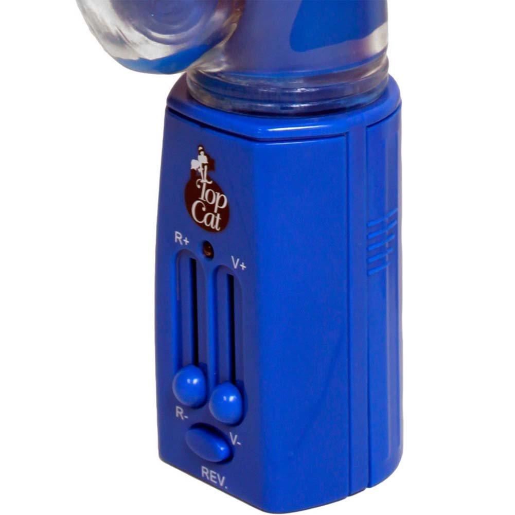 "Elephant Pleasure Reversible Pearl Female Vibrator 11"" Blue - View #4"