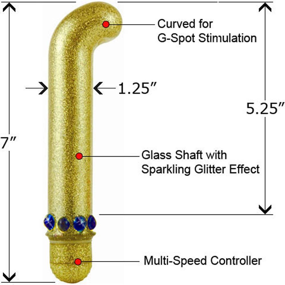 "Golden Finger Waterproof G-Spot Glass Vibrator 7"" - View #1"