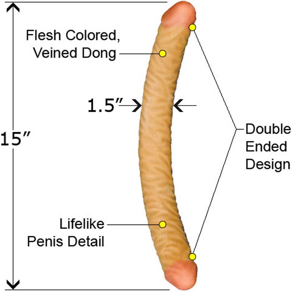 "NeoSkin Double Dong 15"" ASSORTED COLORS - View #1"