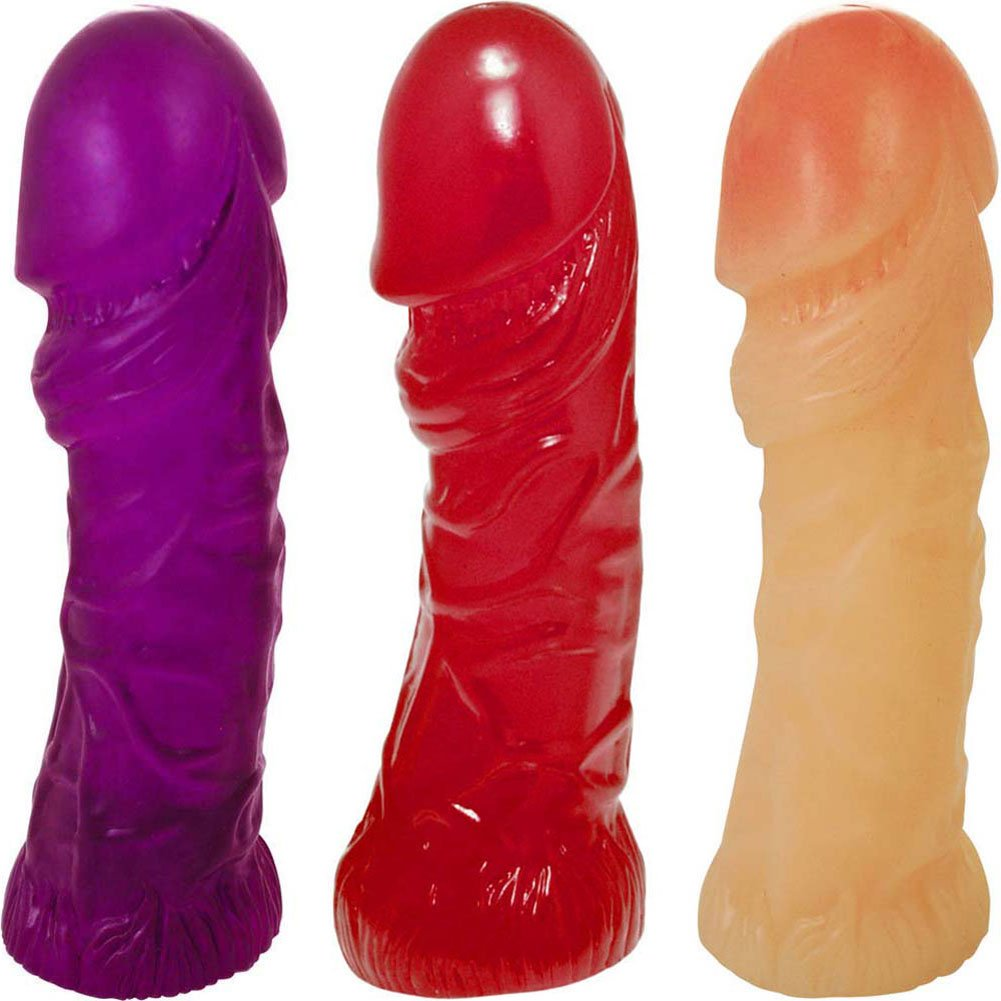 "Oversized G-Spot Curved Jelly Dong 8"" ASSORTED COLORS - View #2"