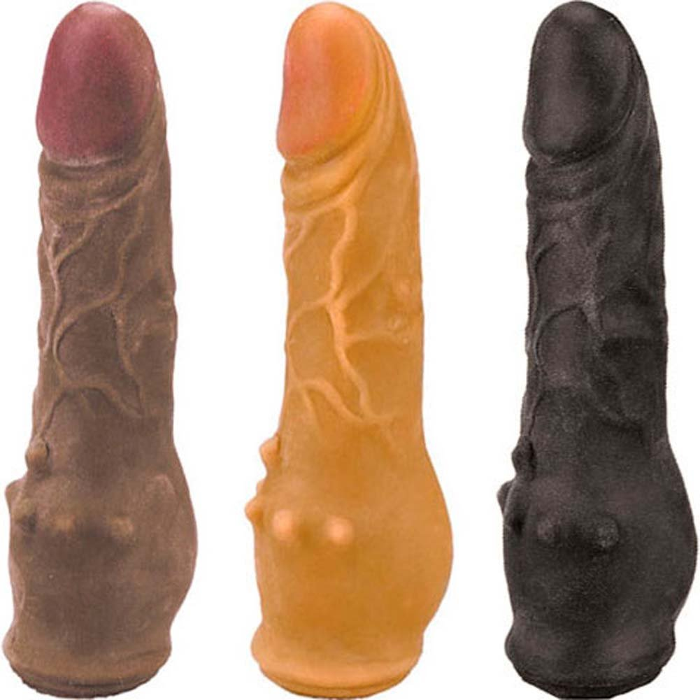 "Clitterific NeoSkin Dong with Clit Bumps 7.5"" ASSORTED - View #2"