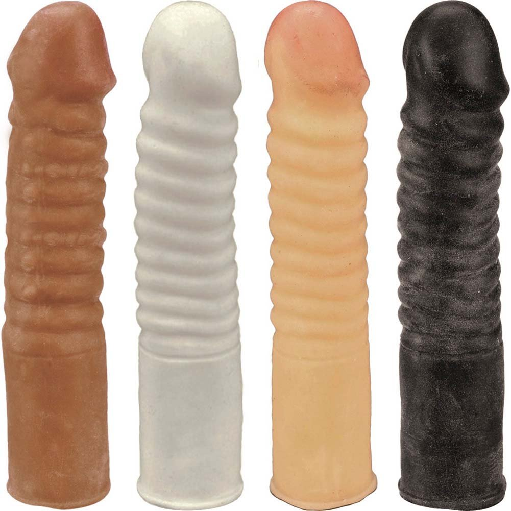 "Ribbed NeoSkin Life Like Dong 7"" ASSORTED COLORS - View #2"