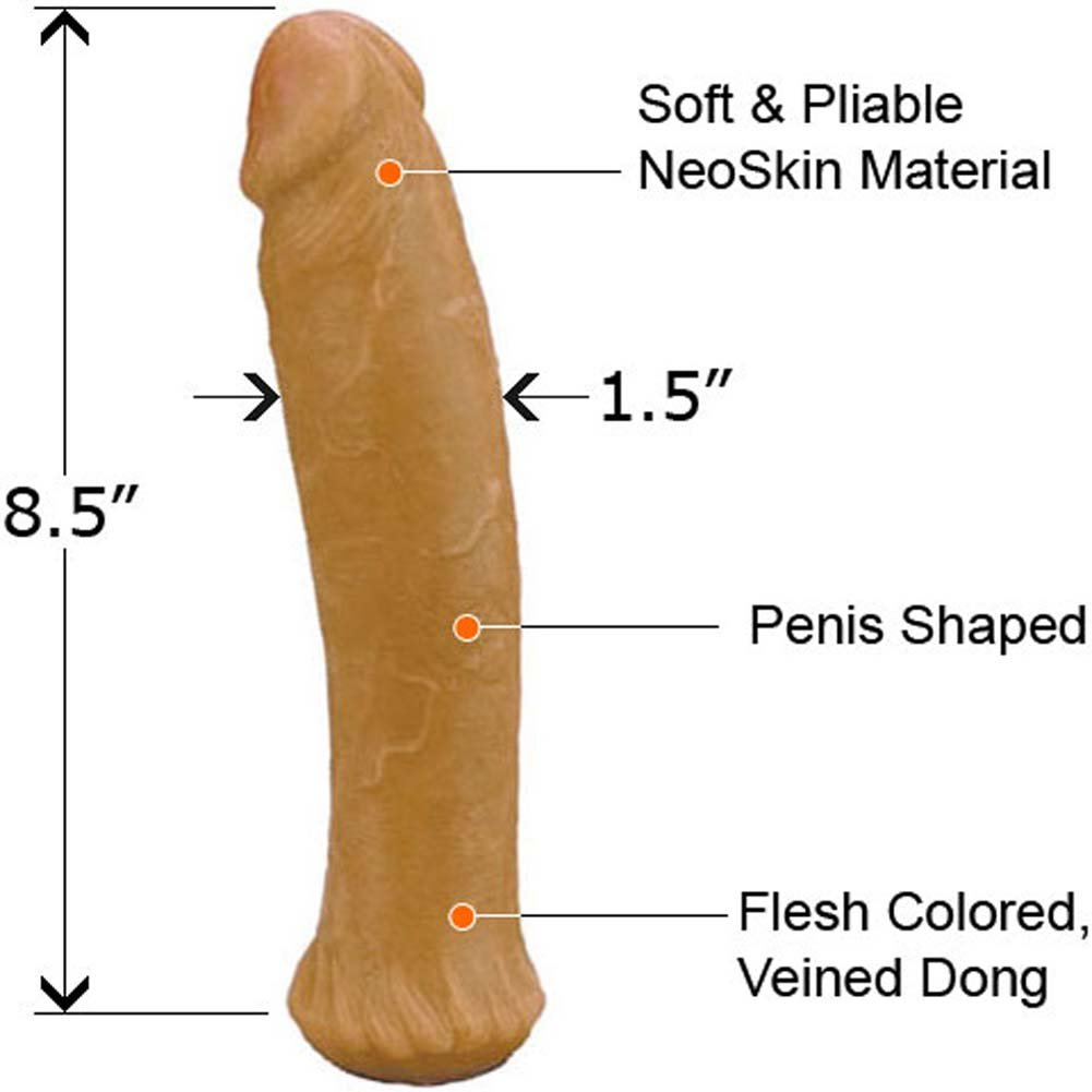 "Straight NeoSkin Dong 8.5"" ASSORTED COLORS - View #1"