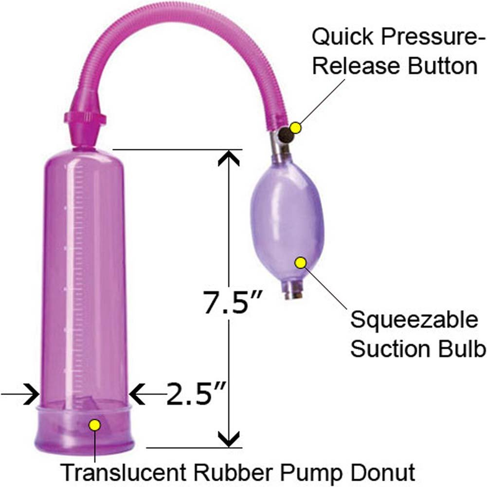 Adam and Eve Penis Pump Purple 7.5 In. - View #2
