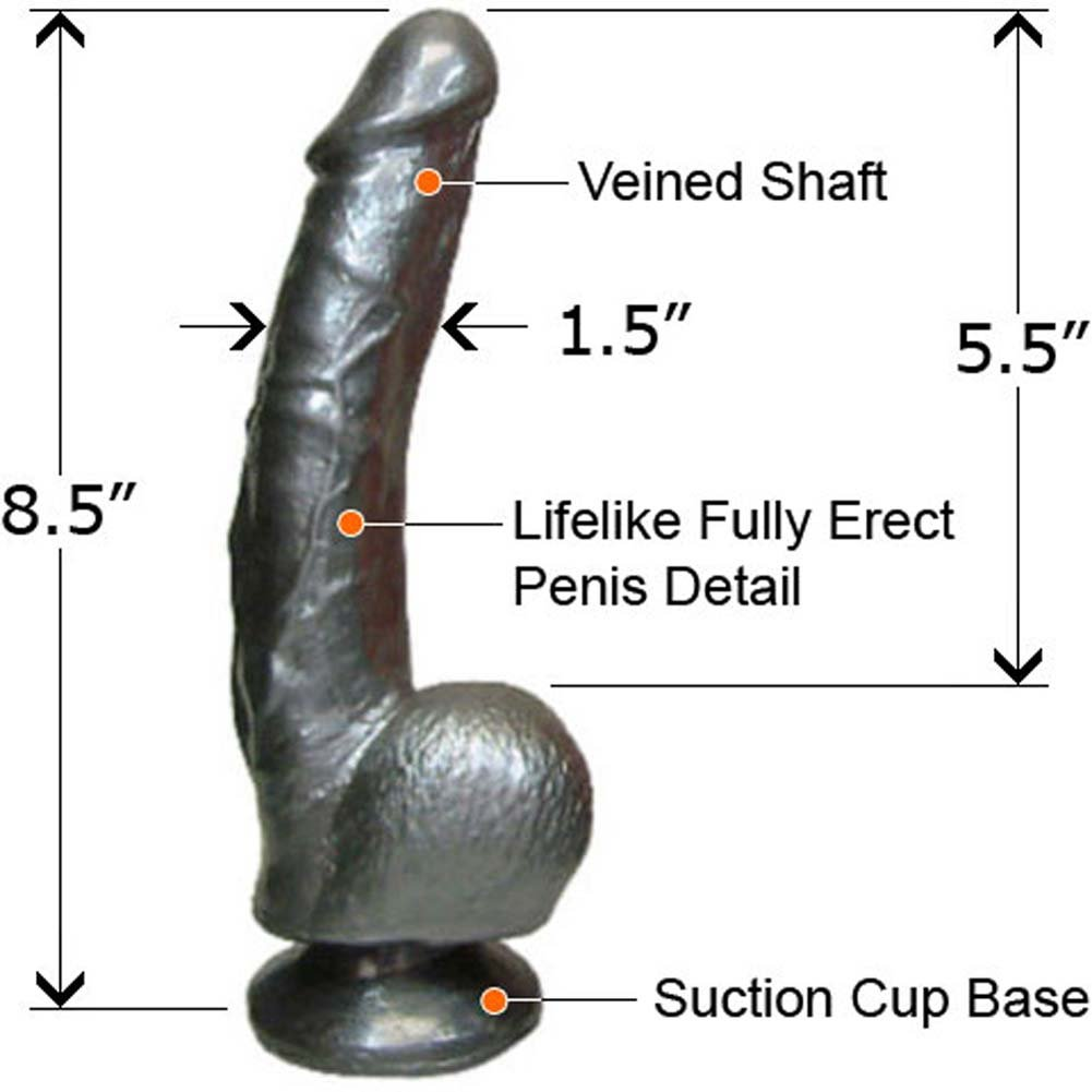 "Boi Toyz Fab Cock 8.5"" Stone Black - View #1"