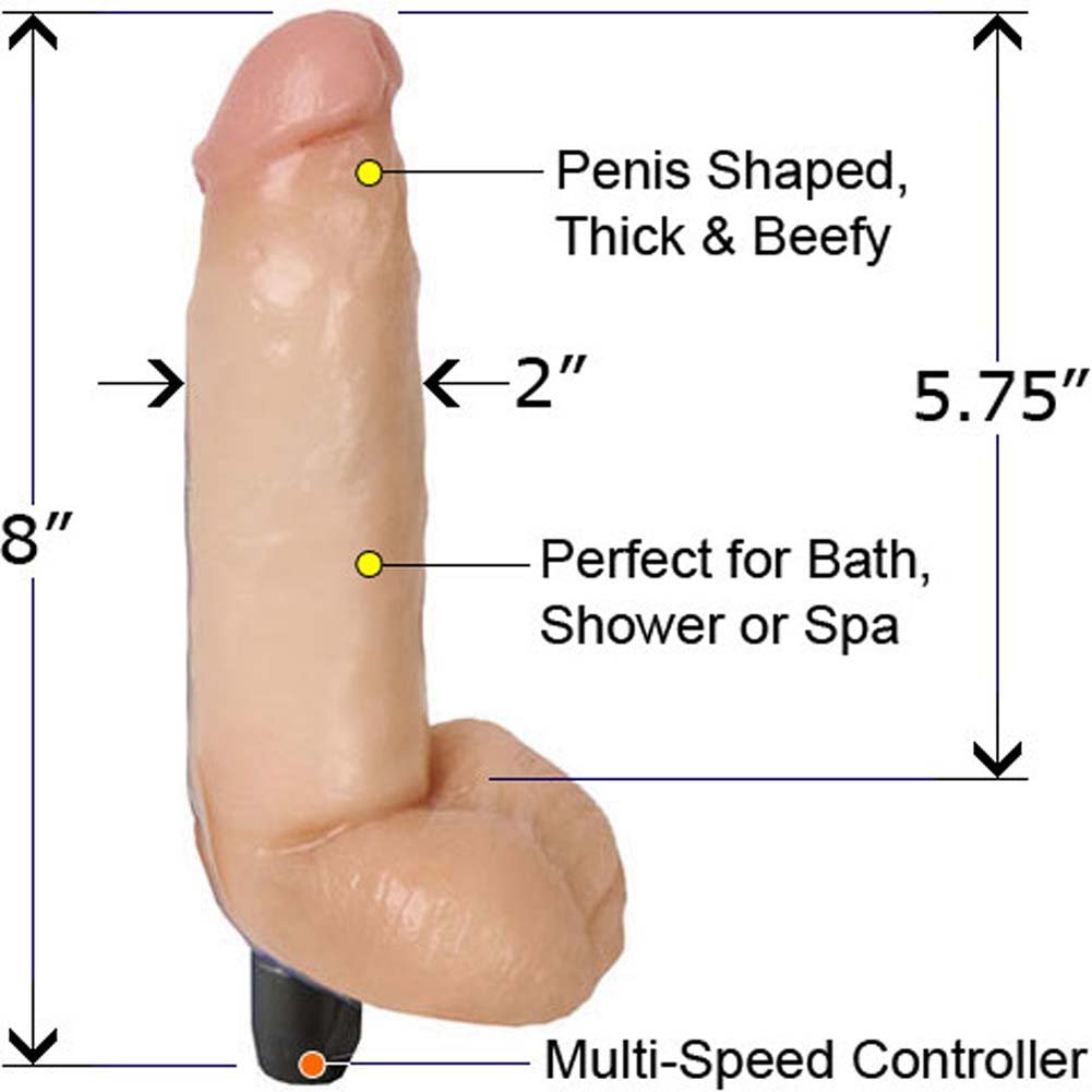 Good Vibes Waterproof PleasureSkin Cock 8 In. - View #2