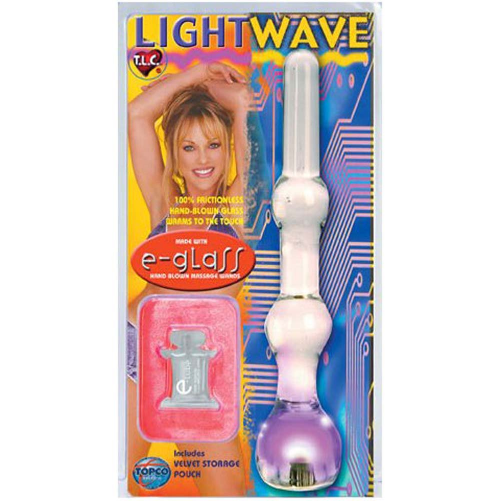 "Light Wave eGlass Dildo with Flashing LED Blinker 8"" - View #4"