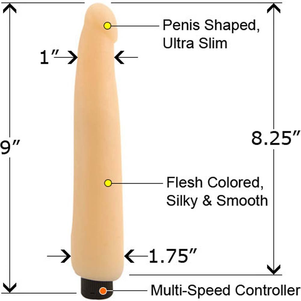 Erotique Touch PassionSkin Ultra Slim Vibe 8 In. - View #2