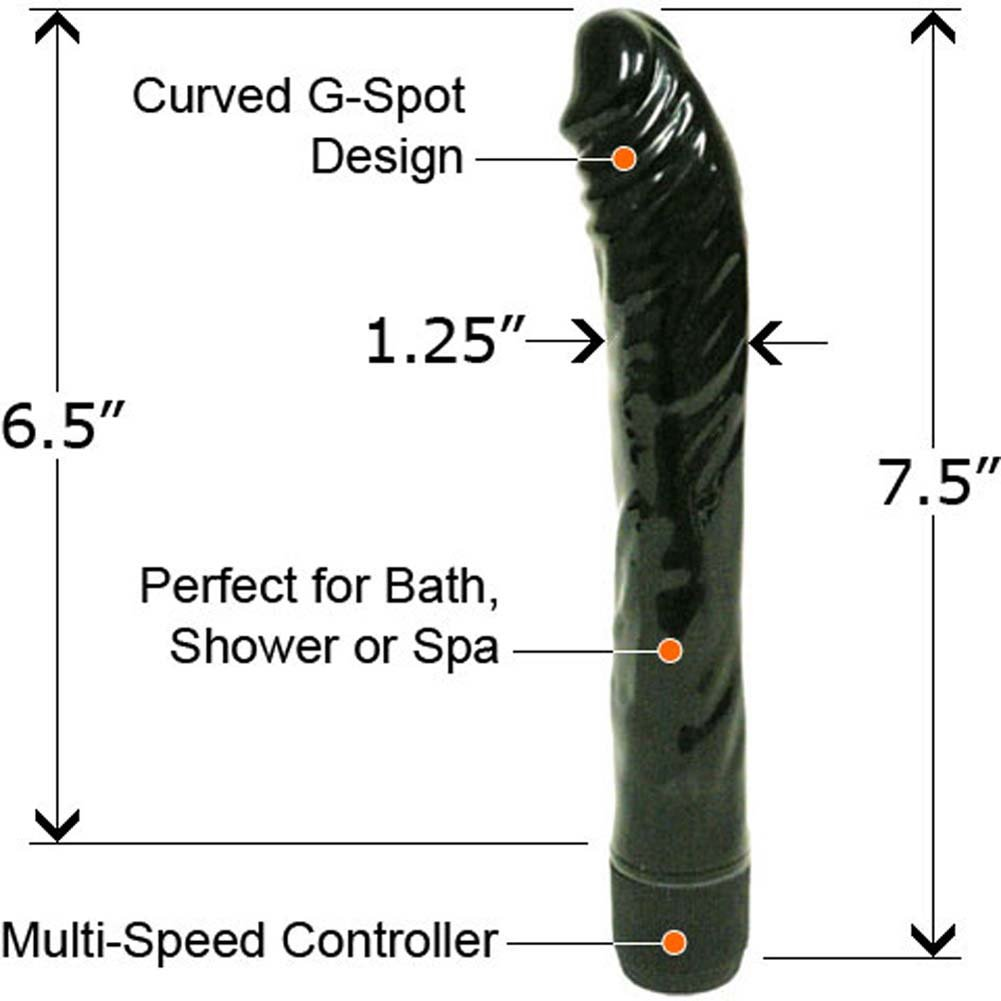 "Penthouse High Style Personal Vibrator 7.5"" Midnight Black - View #2"