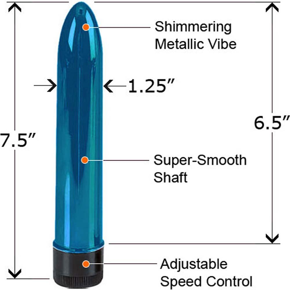 Shimmering Metallic Vibe Blue 7.5 In. - View #1