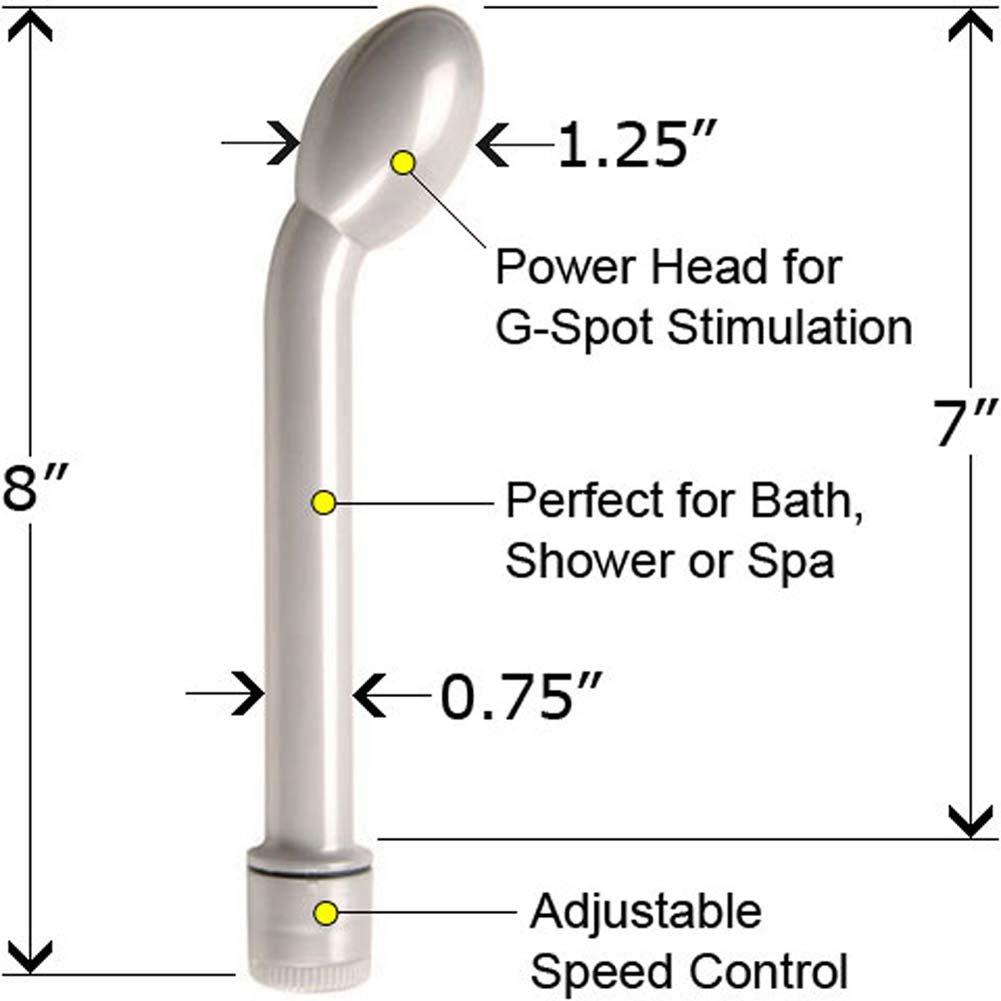 Slimline G Waterproof Vibe Pearlized White 8 In. - View #1