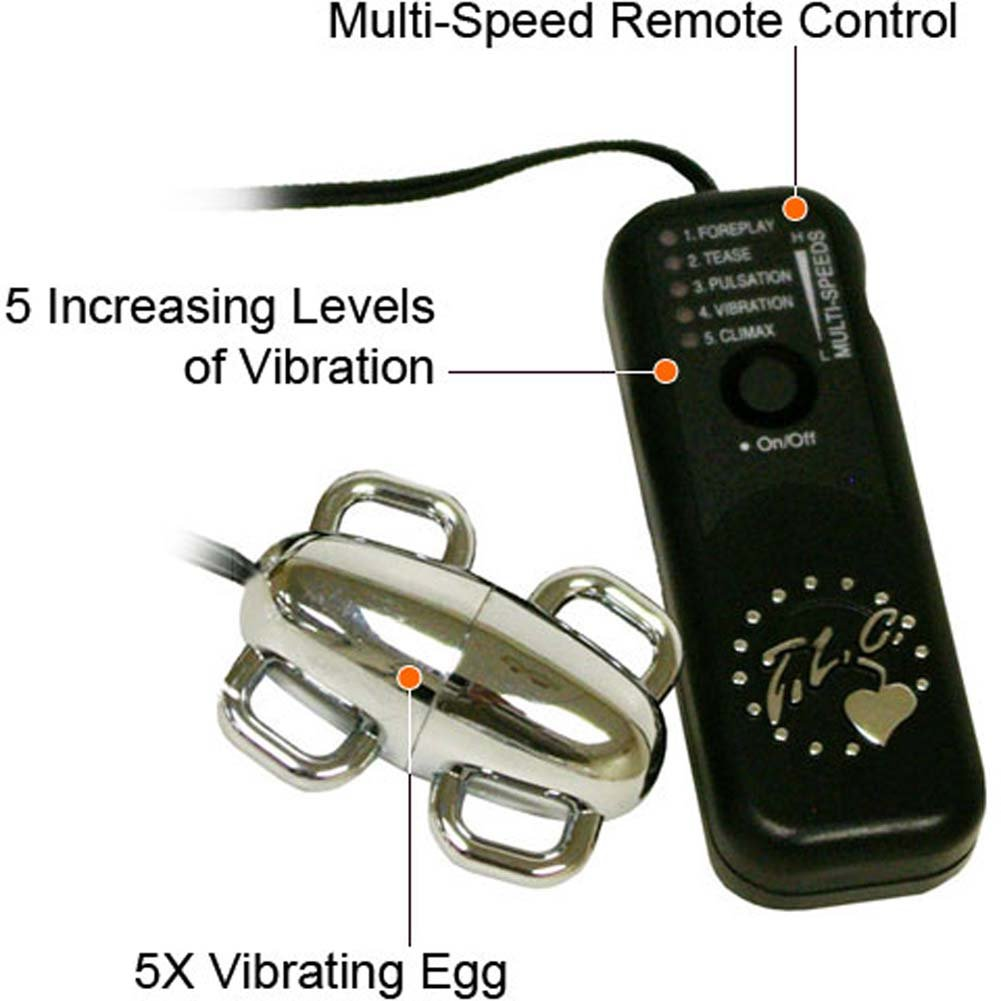 "5X Vibrating Egg with 4 Handles 2.25"" Silver - View #1"