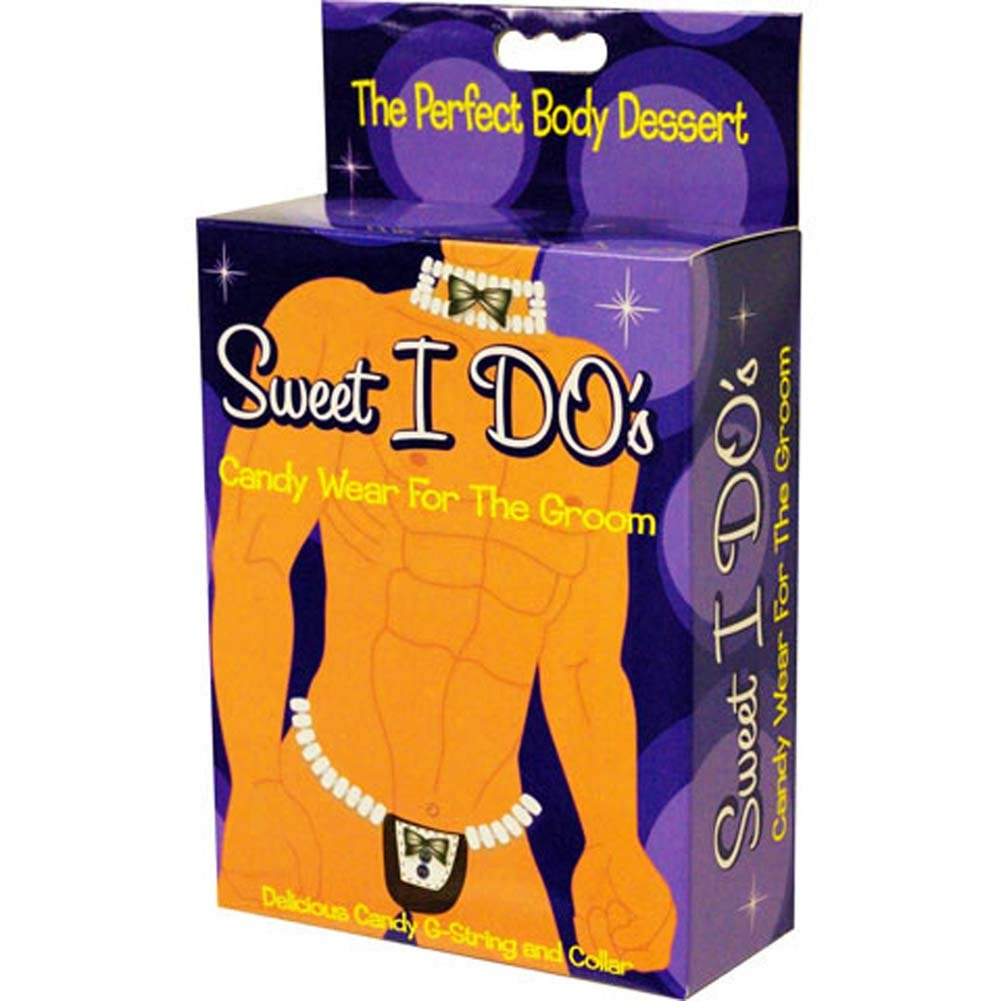 Sweet I DOs Candy Wear for Groom G-String and Collar Set - View #4