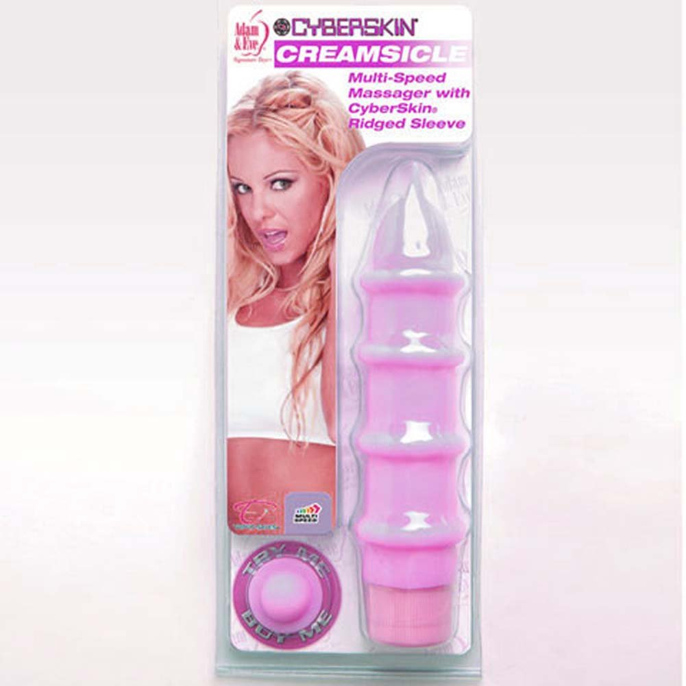 "Adam and Eve CyberSkin Creamsicle Vibrator 7.75"" Purple - View #3"