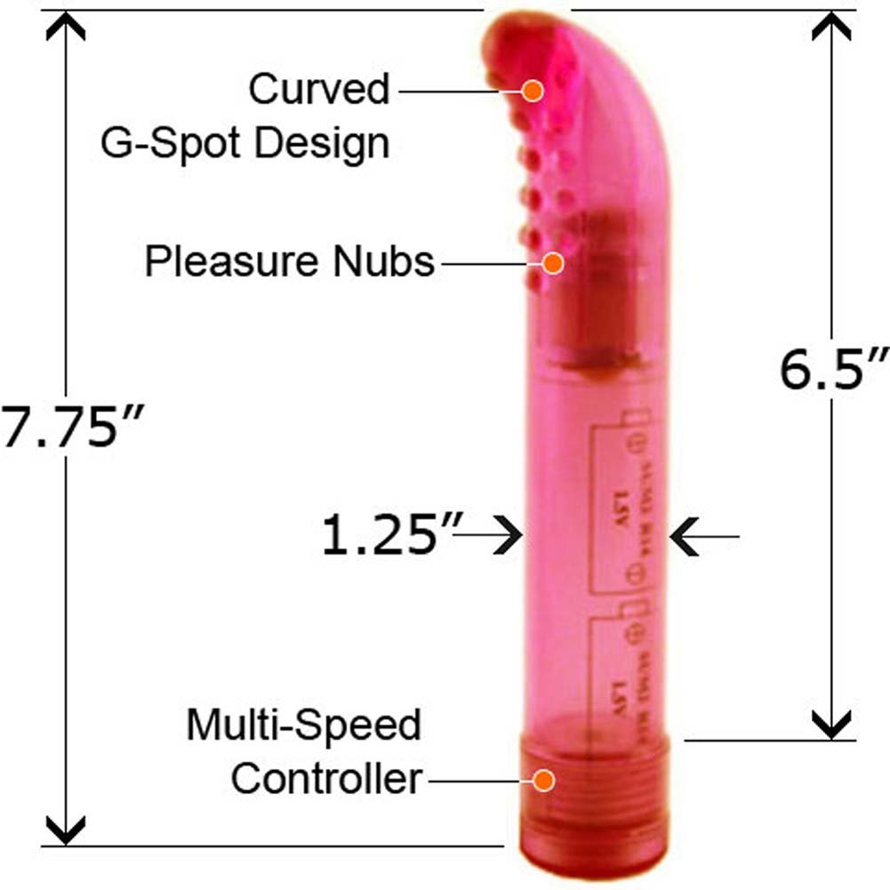 "Wonder G Waterproof Vibrator 7.75"" Pink - View #2"