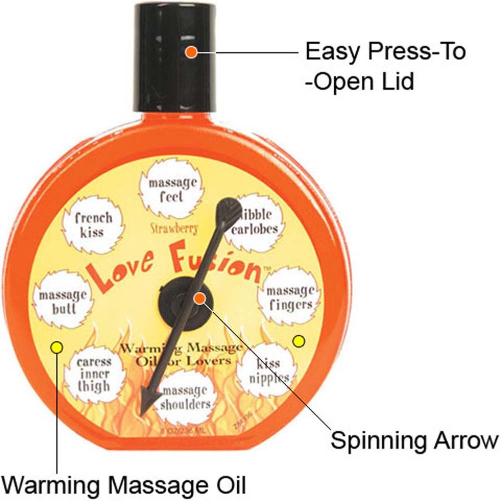 Love Fusion Warming Oil with Game for Lovers Strawberry 8 Oz - View #1