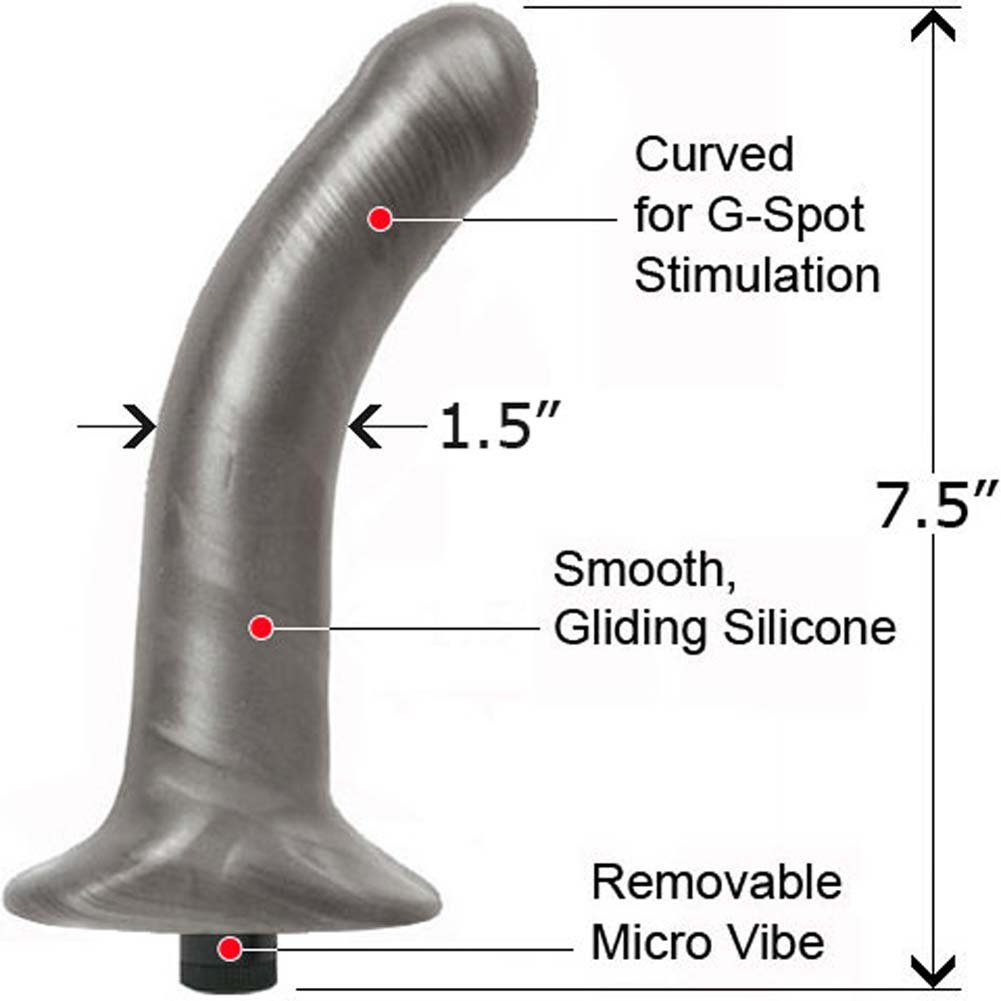 "Hustler Platinum Cured Silicone Bendable Vibe 7.5"" - View #1"