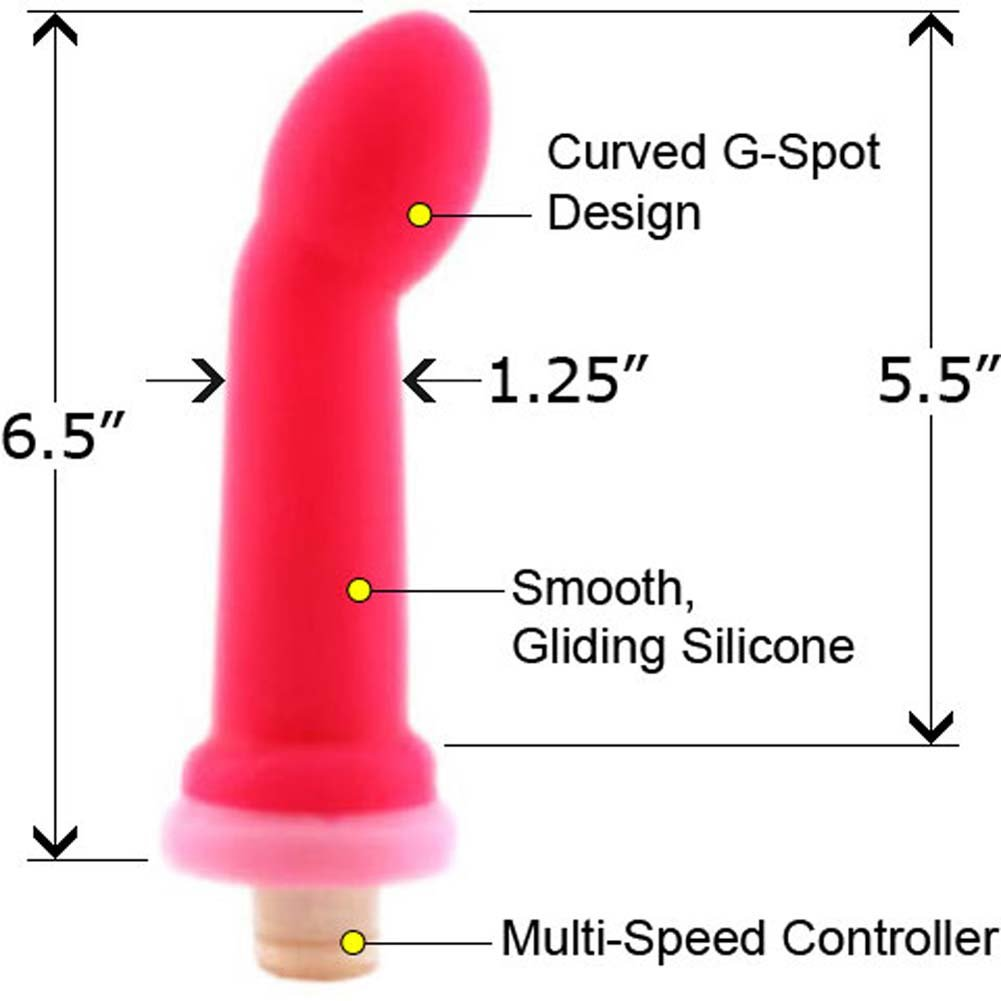 "Hustler Silicone Waterproof G-Spot Teaser 6.5"" Hot Pink - View #2"