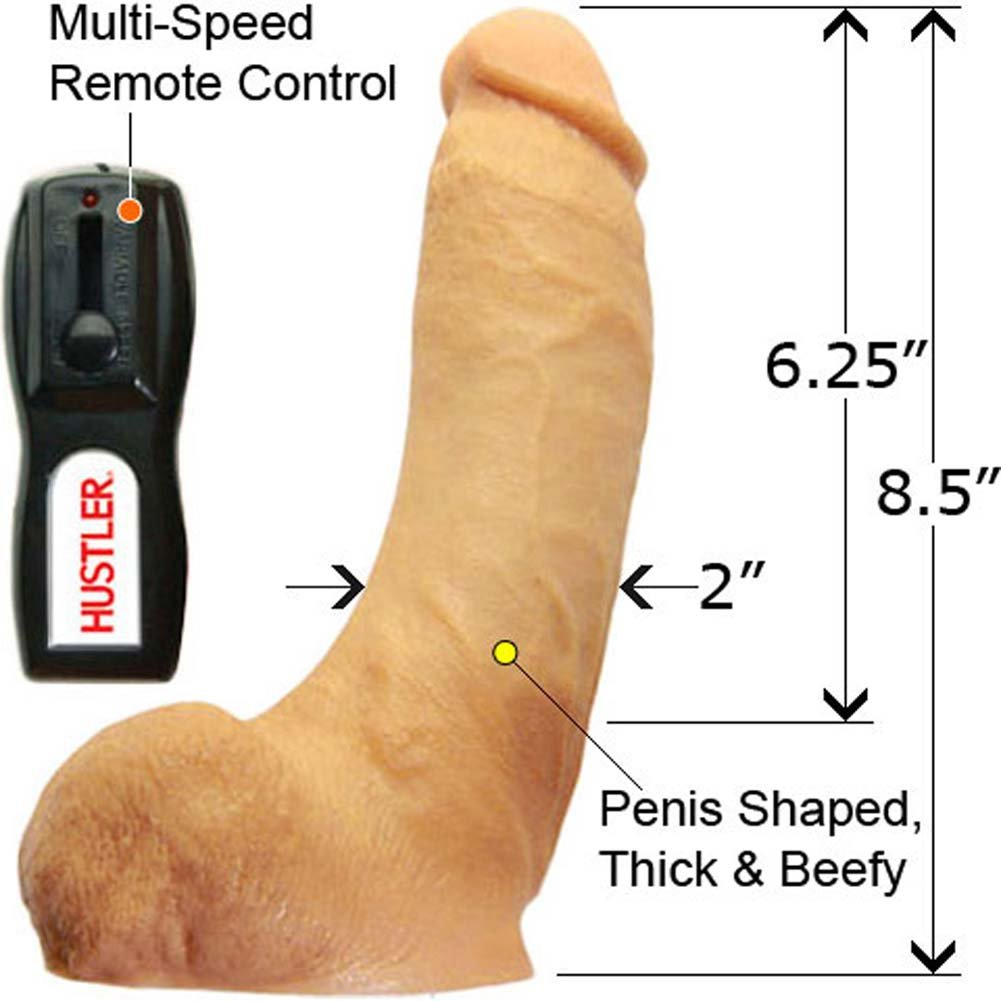 "Hustler Real Man Vibrating Rockin Rod 8.5"" Natural - View #2"
