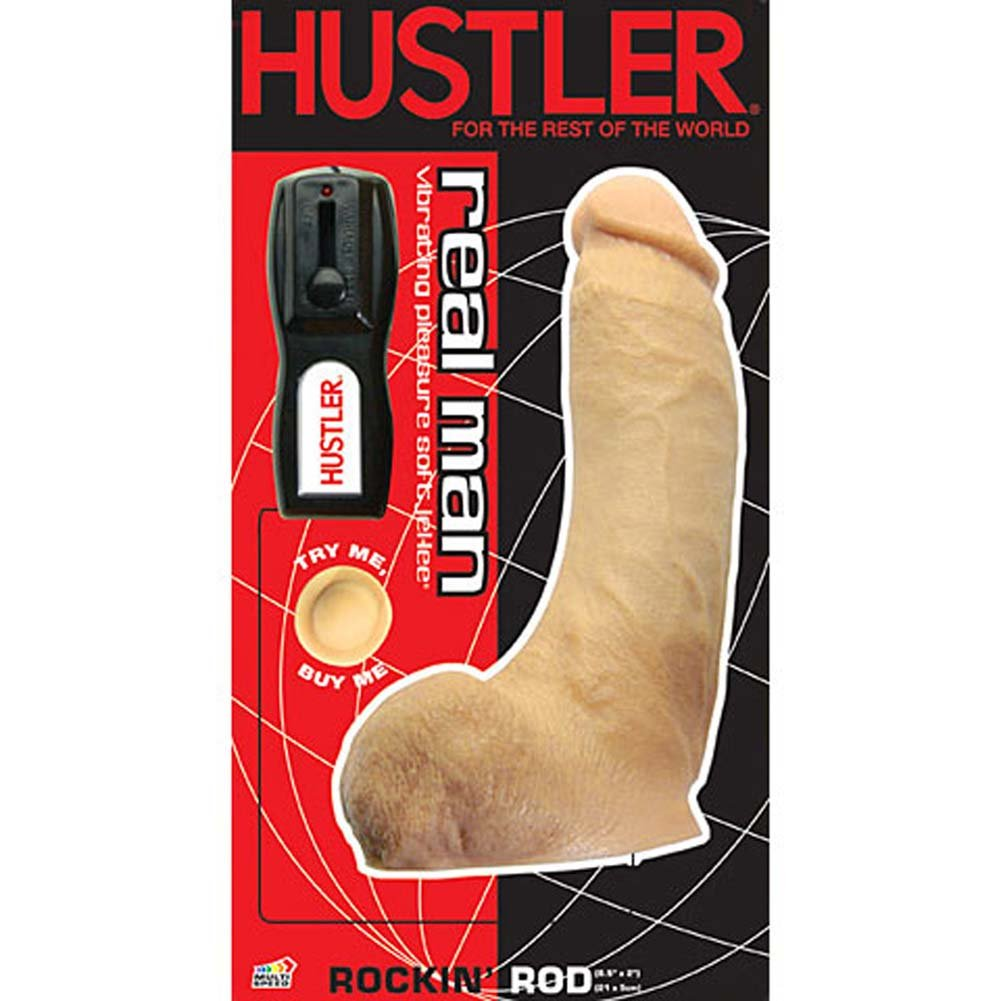 "Hustler Real Man Vibrating Rockin Rod 8.5"" Natural - View #4"