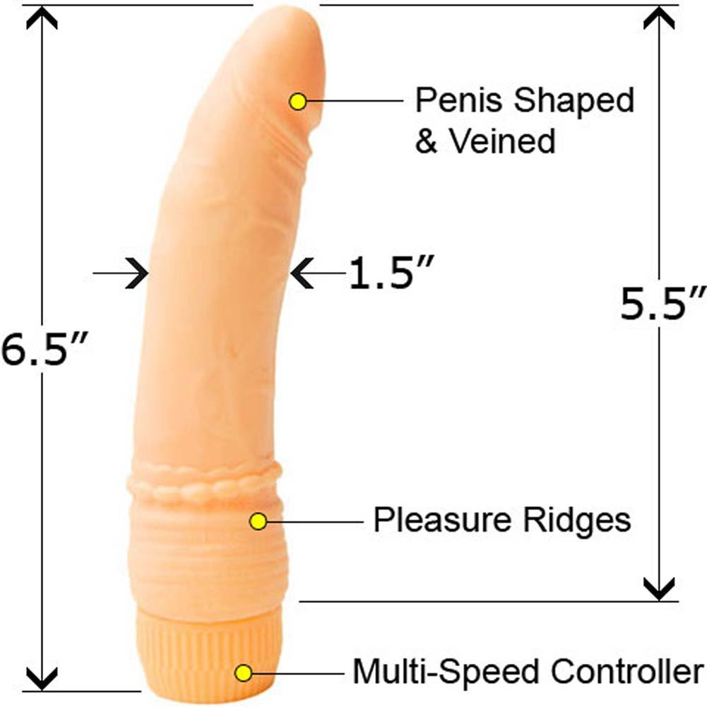 "PlayToys Waterproof Vibrating Teaser 6.5"" Petite Peach - View #1"